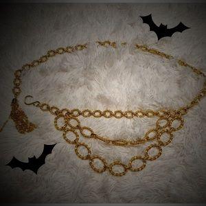 🎃2/$10 Gold Tassel Chain Belt